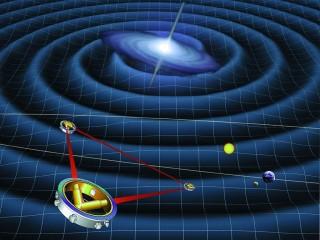 2034년 발사 예정인 레이저 간섭계 우주 안테나(eLISA)의 상상도 - ESA 제공